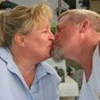 Ken and wife kissing