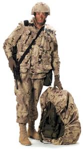 Xmascombat soldier
