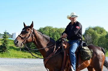 Paul Nichols who saddled up to bring attention to veterans' issues across Canada.